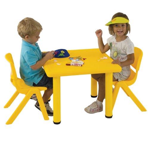 Ecr4Kids Square Plastic Kids Table Leg Height: 18, Color: Blue