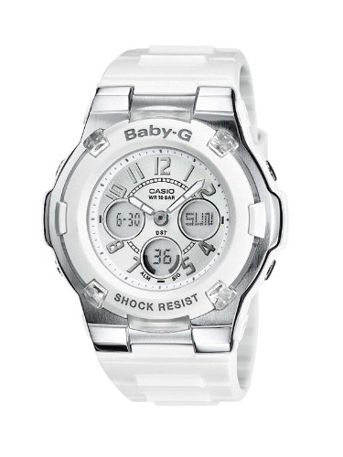 Casio BABY-G Ladies Analogue Digital Watch BGA-110-7BER with Resin Combi Strap