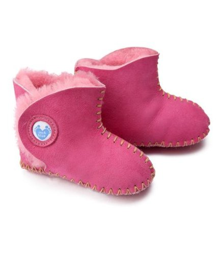 Inch Blue Cyclamen Cwtch, Soft shoes, Baby girl, 6-12 months