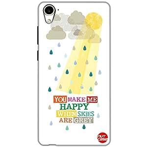 Designer HTC 826 Case Cover Nutcase-You Make Me Happy