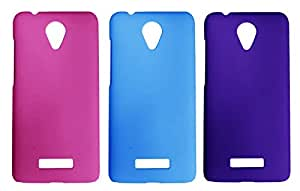 3 Pieces Winsome Deal Exclusive Hard Back Cover Case For Micromax Canvas Spark Q380