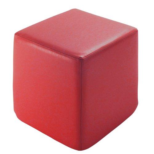 Sitting-Sitzwrfel-Leder-rot