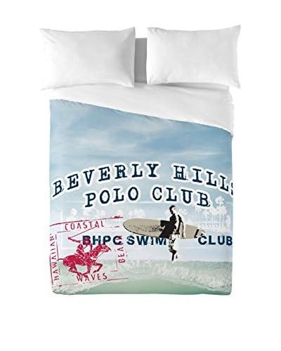 Beverly Hills Polo Club Coordinato Copripiumino Hawaii 2 [Blu]