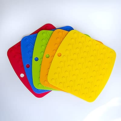 (5) Silicone Hot Pot Holder Mitts Trivets Pot Holders Silicone Trivets Oven Mitts and Hot Pads for Cooking, Baking, Bbq, Smoking