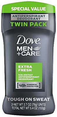 Dove Men + Care Antiperspirant, 2.7 Ounce, Twin Pack