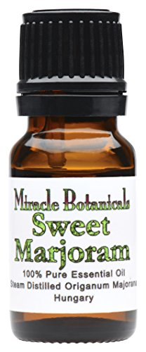 Miracle Botanicals Sweet Marjoram Essential Oil - 100% Pure Origanum Majorana - Therapeutic Grade - 10ml