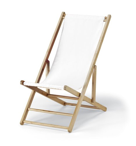 Telescope Casual Cabana Beach Folding Chair, White