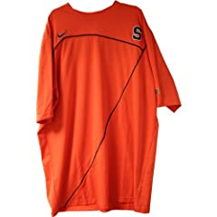 Jackson Short Sleeve Shooting Shirt - Syracuse 2009-10 Mens Basketball #00 Game Worn...