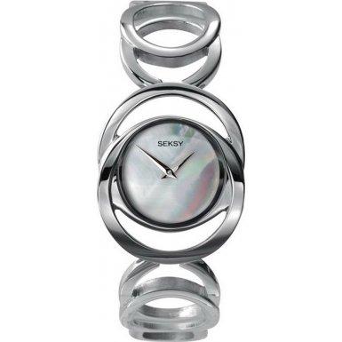Seksy 4417 Ladies MOP Dail SS Rings Bracelet