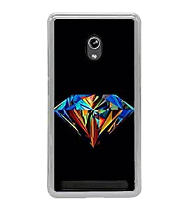 Colourful Diamond 2D Hard Polycarbonate Designer Back Case Cover for Asus Zenfone 6 A600CG