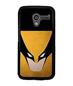 PRINTVISA Batmen Mask Premium Metallic Insert Back Case Cover for Motorola Moto X - D5881