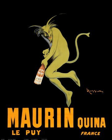 Maurin Quina le Puy - Green Devil, c. 1906 by Leonetto Cappiello. Vintage French Advertising Reproduction Poster (16 x 20) (The Devil Poster compare prices)