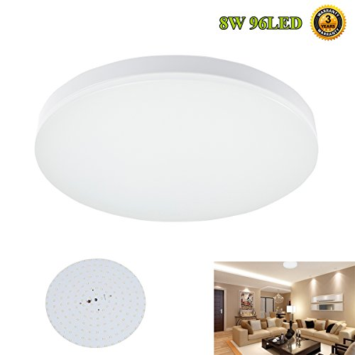 S&G® 9.6-Inch LED Ceiling Lights 8w 4000k(Neutral White) 650-750lm Flush Mount Bedroom Ceiling Lights Dining Room Lighting Fixtures (Led Flush Mount Light compare prices)