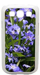 Blue Flowers White Back Cover Case for Samsung Galaxy S3 / SIII / I9300