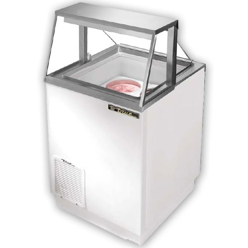 Ice Cream Dipping Cabinet, Displays 4 ea. 3 Gallon Cans
