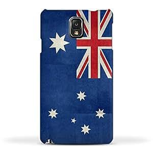 FUNKYLICIOUS Galaxy Note 3 Back Cover Flag of Australia vintage retro style Design (Multicolour)