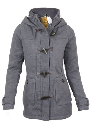 Fresh Made Winter coat jacket with hood, Größe:XL;Farbe:Middle Grey