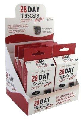 Godefroy 28 Day Mascara Lash & Brow Tint Single Black (6 Pieces)
