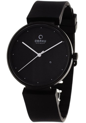 Obaku Harmony Black Dial Black Stainless Steel Ladies Watch V138GBBXB