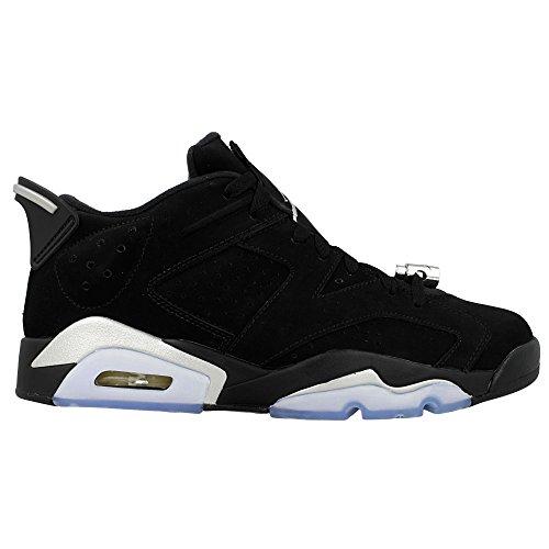 ae4c6cbebaa2cc Nike Air Jordan Retro 6 Low Chrome Mens Black Metallic Silver White  304401-003 (15)