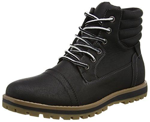 New LookJasper Casual Worker - Stivaletti uomo, colore nero (01/Black), taglia 42 (8 UK)