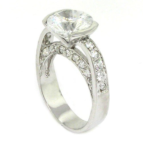 Classic Engagement Ring w/Round Brilliant White CZ Size 9