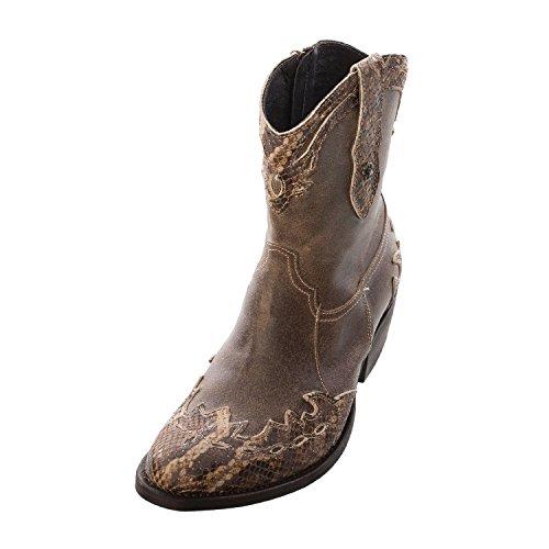 Sancho Boots Donna In Pelle Cowboy Boot (vs10907), (TAPIOCA CROSTA TIB), 36 EU