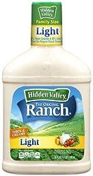 Hidden Valley Original Ranch Light Dressing, 36 Fluid Ounce Bottle (Pack of 3)