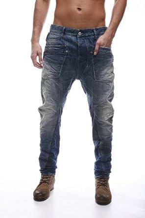 salsa jeans baggy taille basse homme bleu fonc 30. Black Bedroom Furniture Sets. Home Design Ideas
