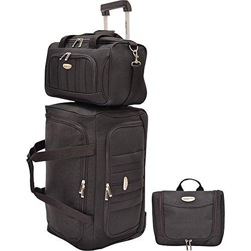 travelers-choice-rome-3-piece-carry-on-luggage-set-black