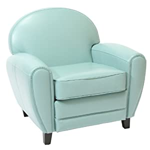 Best Selling Leather Cigar Chair, Teal Blue