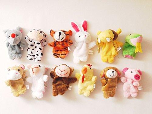 Star Room 12支 指人形セット フィンガー パペット 動物 子ども 保育園 幼稚園 家庭 で (動物12支セット)