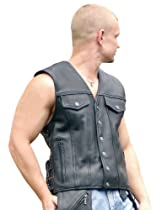 Big Sale Milwaukee Motorcycle Clothing Company Men's Gambler Vest (Black, XXXX-Large)