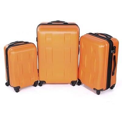 Business Hardcase Luggage Trolley Set Orange by MA-Trading