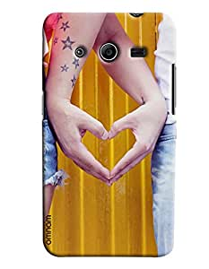 Omnam Girl And Boy Making Heart By Hands Printed Designer Back Cover Case For Samsung Galaxy Galaxy Core 2