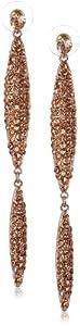 Kenneth Jay Lane Rose Gold-Plated Linear Drop Earrings