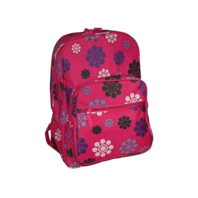 Gerbera a4 floral student backpack gym bag