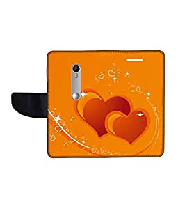 KolorEdge Printed Flip Cover For Motorola Moto X Style Multicolor - (1479-55KeMLogo10320MotoXStyle)