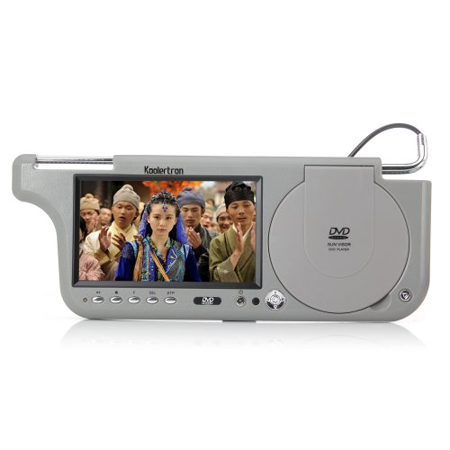 "Koolertron® 7"" Hd Lcd 16:9 Sunvisor Visor Monitor With Car Dvd Player For Gps Dvr Rearview Camera"