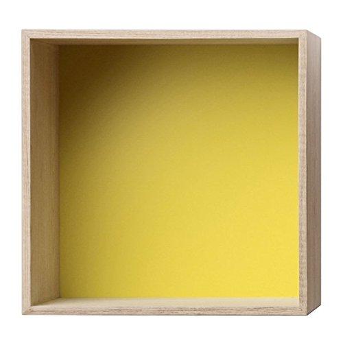 Muuto - Muuto Mini Stacked Shelf System - Medium, Mable + Yellow backboard