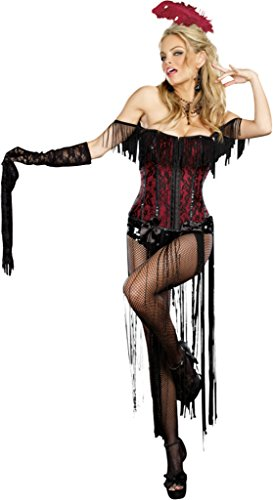 Dreamgirl Womens Sexy Burlesque Beauty Fringed Flapper 1920'S Halloween Costume