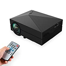 """buy Video Projector, Lefun™ 1080P Hd 130"""" Mini 1000 Lumens Led Full Color Multimedia Home Theater Projector Movie Night (Black)"""
