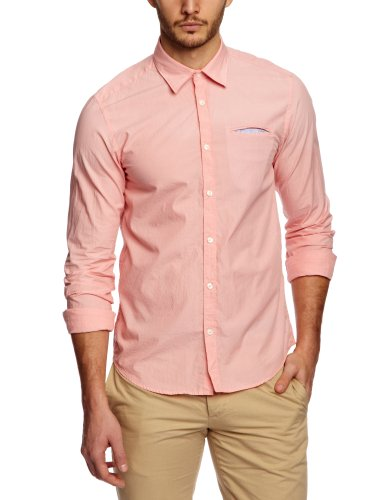 Scotch & Soda Sprayed Casual with Fixed Crincles Men's Shirt Dessin B Large