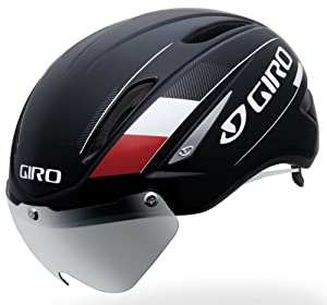 Giro Air Attack Shield Helmet (Black/Red, Medium)