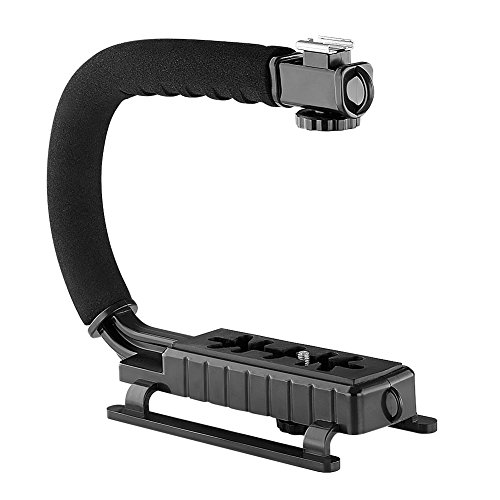 Neewer C Shaped Video Action Stabilizing Handle Bracket for DV Camcorders DC DSLR Cameras and Point and Shoot Cameras--Black (Camera Video Bracket compare prices)