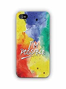 YuBingo I'm Possible Designer Mobile Case Back Cover for Apple iPhone 4S