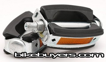 Electra Style Retro Ball Bearings Rubber Pedals - 1/2