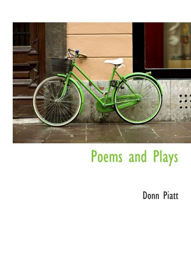 Poems and Plays