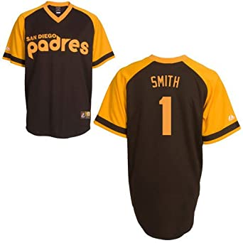 Ozzie Smith San Diego Padres Replica Cooperstown Jersey by Majestic by Majestic