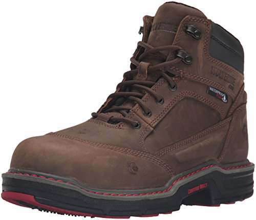 Wolverine Men's Overman 6 Inch Insulated Waterproof Comp Toe Work Shoe, Brown, 9.5 M US (Insulated Work Shoes For Men compare prices)